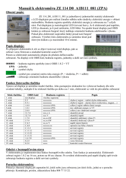 Manuál k elektroměru ZE 114 D0_A1B111_081