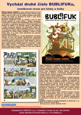 Vychází druhé číslo BUBLIFUKu, komiksové revue pro kluky a holky