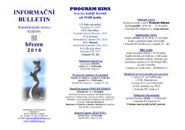 Informační Bulletin RÚ Kladruby