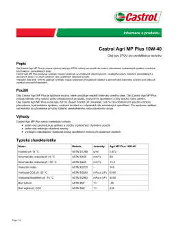Castrol Agri MP Plus 10W-40 - Castrol