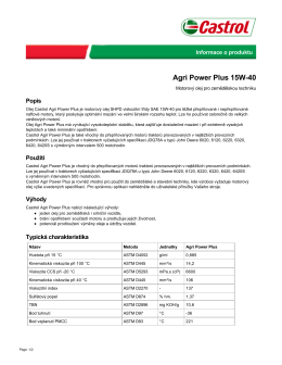 Agri Power Plus 15W-40 - Castrol