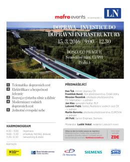 Doprava – investice Do Dopravní infrastruktury