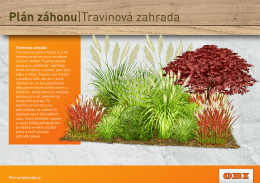 Plán záhonu|Travinová zahrada