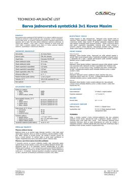 3v1 Kovex Maxim technický list