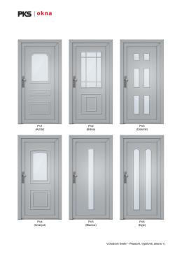Katalog plastových dveří - s výplněmi