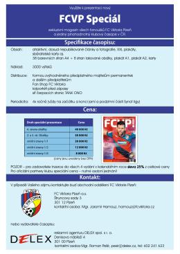 Ceník inzerce - FCVP speciál