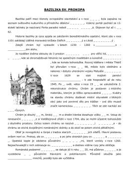 Pracovní list Bazilika sv. Prokopa