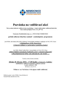 ČESKÁ LÉKAŘSKÁ KOMORA - Svitavská nemocnice