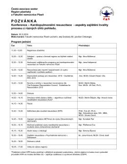 pozvánka - Česká asociace sester