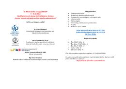 Informace pro účastníky