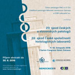 23. sjezd českých a slovenských patologů 22. sjezd České