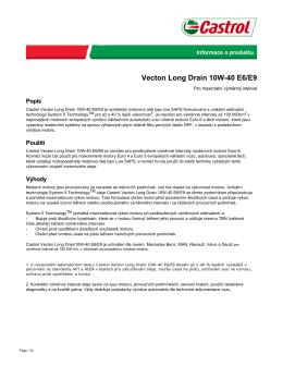 Vecton Long Drain 10W-40 E6/E9 - Castrol