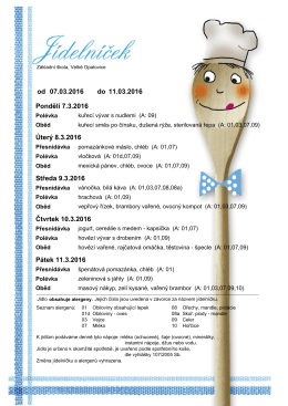 týden 7. 3. - 11. 3. 2016 - Základní škola Velké Opatovice