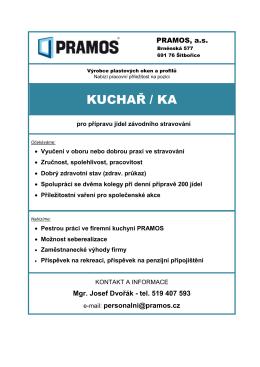 kuchař / ka - PRAMOS, a.s.
