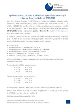Kritéria - GVI.cz