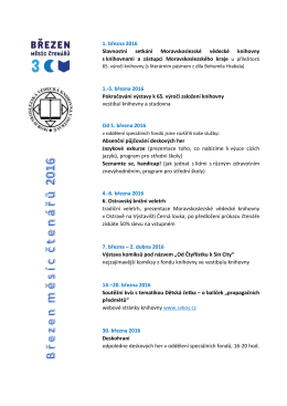 1. března 2016 Slavnostní setkání Moravskoslezské vědecké