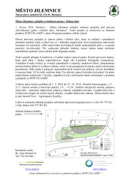 Město Jilemnice zahájilo revitalizaci parku v Dolení ulici