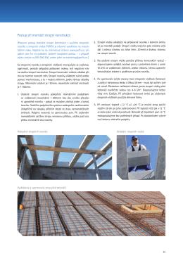 Postup při montáži stropní konstrukce