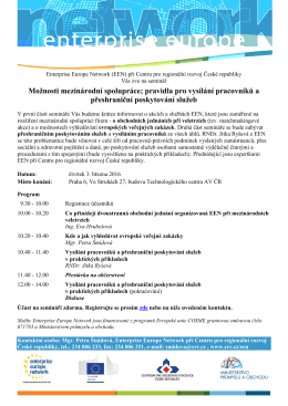 Program - Enterprise Europe Network