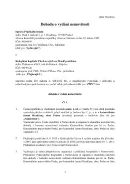 Dohoda o vydání nemovitosti