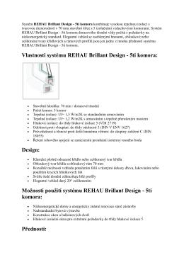 Vlastnosti systému REHAU Brillant Design
