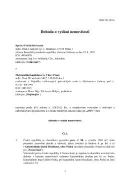 Dohoda o vydání nemovitosti II