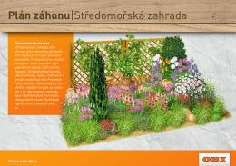 Plán záhonu|Středomořská zahrada