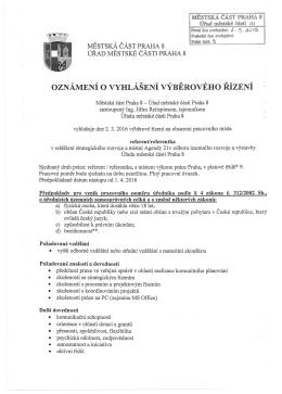 referent/referentka v oddělení strategického rozvoje a