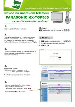 Návod na nastavení telefonu PANASONIC KX-TGP500