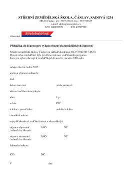 formulář přihlášky – formát PDF