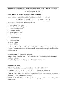 Přípravný kurz k přijímacímu řízení na obor Všeobecná - FZS