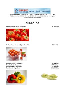 zelenina - GFS.cz