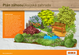 Plán záhonu|Asijská zahrada