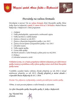 Program ZDE - Muzeum Bojkovska