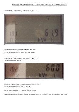 Postup pro odečet obou sazeb na elektroměru DVH5161