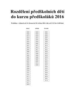 Kurz předškoláků 2016