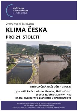 Klima Česka pro 21. století - Hvězdárna a planetárium Hradec Králové