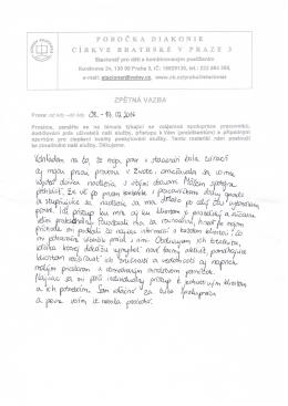 naše praktikantka petra nám napsala
