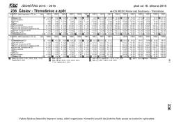 236 Čáslav - Třemošnice a zpět 236