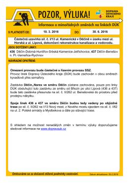 160310 Výlukový formulář DC-Kamenická