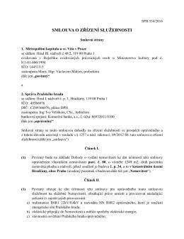 Smlouva o zřízení služebnosti II