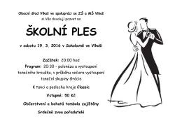 školní ples - ZŠ a MŠ Vlkoš