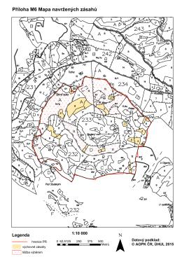 Příloha M6 Mapa navržených zásahů