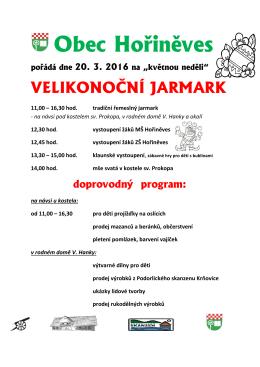 Obec Hořiněves pořádá dne 20. 3. 2016 na