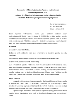 Účetnictví ministerstva a účetní výkaznictví státuPDF