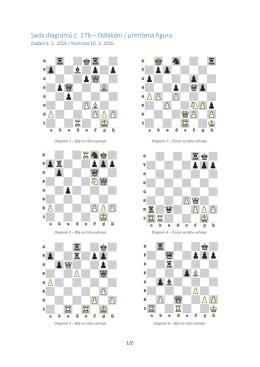 Sada diagramů č. 17b – Odlákání / přetížená figura