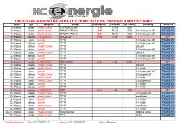 Autobusy - HC Energie Karlovy Vary