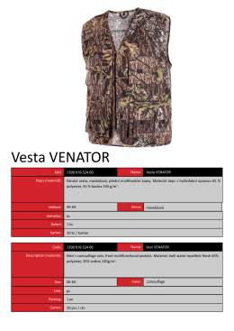 Vesta VENATOR - CANIS Safety as