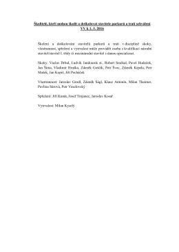 Seznam školitelů stavitelů parkurů a tratí