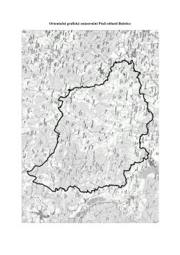 Orientační grafické znázornění Ptačí oblasti Boletice